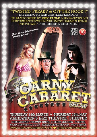 Carny Cabaret at Alexander's Thursday 16th May