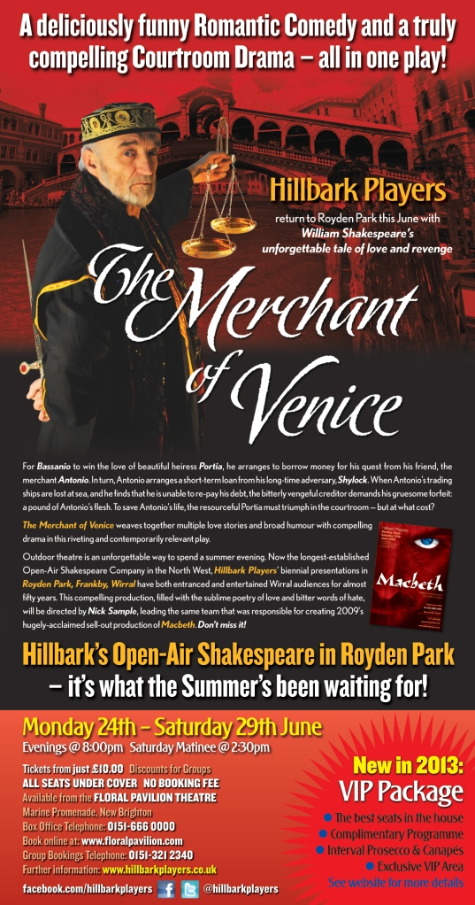 The Merchant of Venice flyer