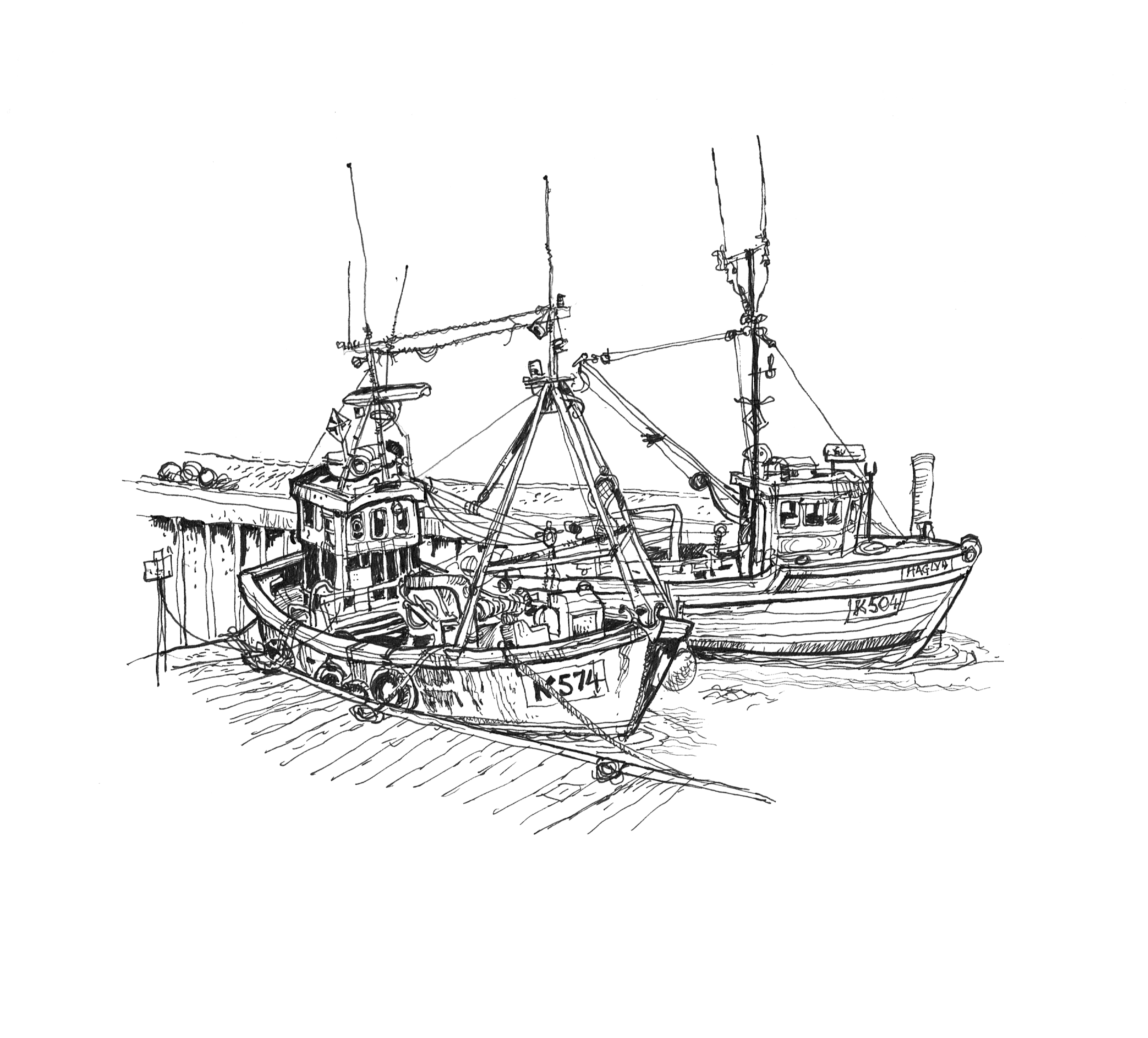 Dai s reportage the northern isles click on drawings to for How to draw a fishing boat