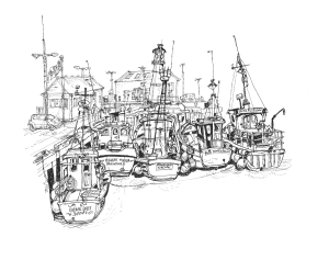 Kirkwell Harbour, fishing boats 2