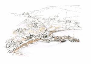 Voe village and pier, Shetland