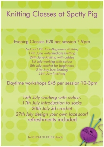 Knitting classes at spotty pig