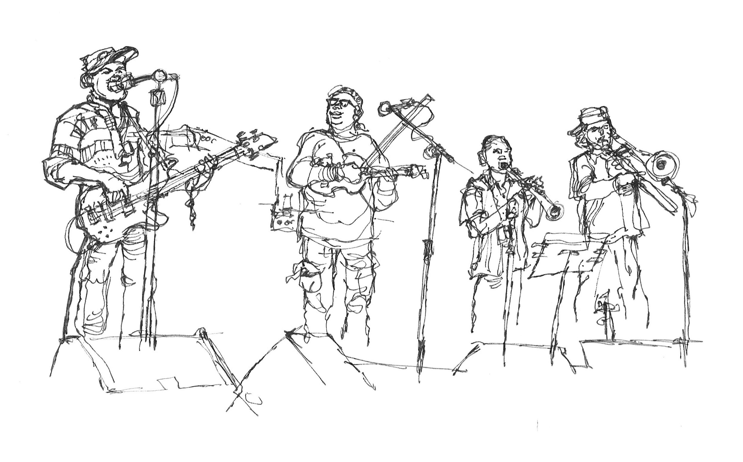 Drawing Lines Band : Dai s reportage drawing bands varied musicians